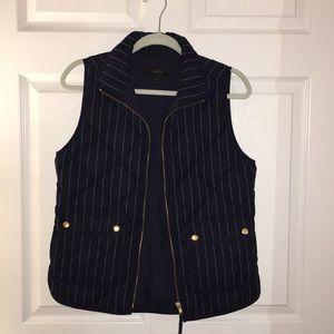 Women's Navy pinstripe J.Crew vest